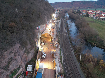 Road and bridge construction, civil and structural engineering services for Tunnel Rothenstein, Germany