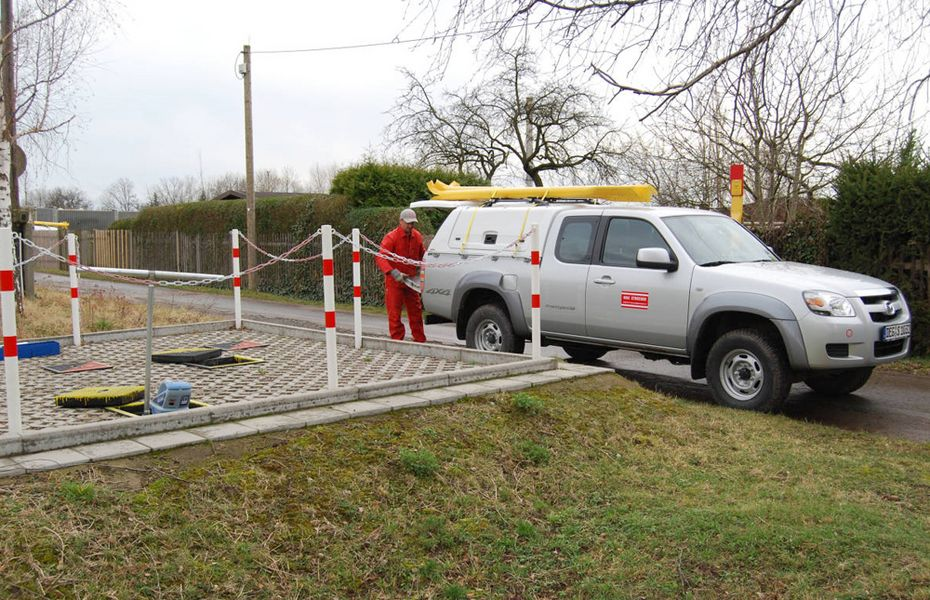 Monitoring of the gas pipe network